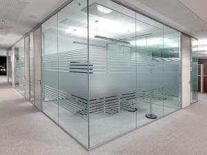 Офисные интерьерные перегородки Alutech