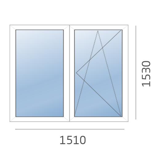 окно двухстворчатое в 504 серию
