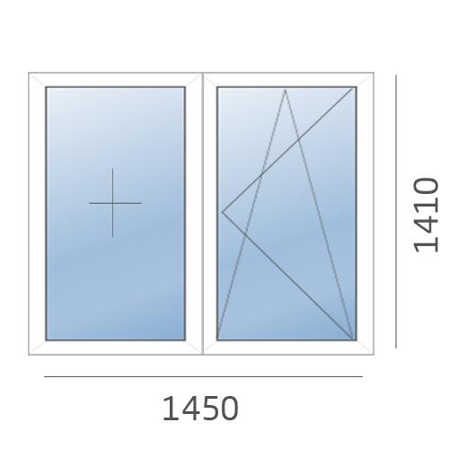 окно двухстворчатое РЕХАУ