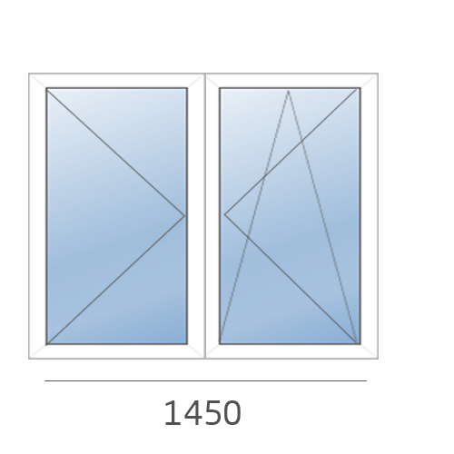 окно двустворчатое в 504 серию