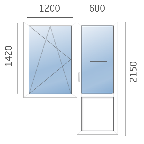 балконный блок в 600 серию