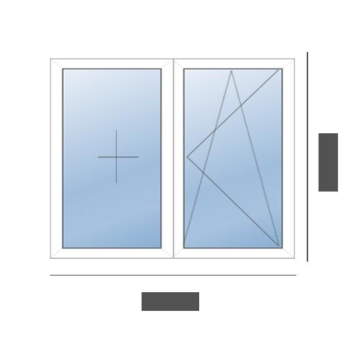 окно двустворчатое в 606 серию (1700x1400)