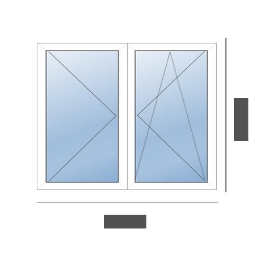 окно двустворчатое в 606 серию