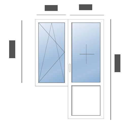 балконный блок в 606 серию