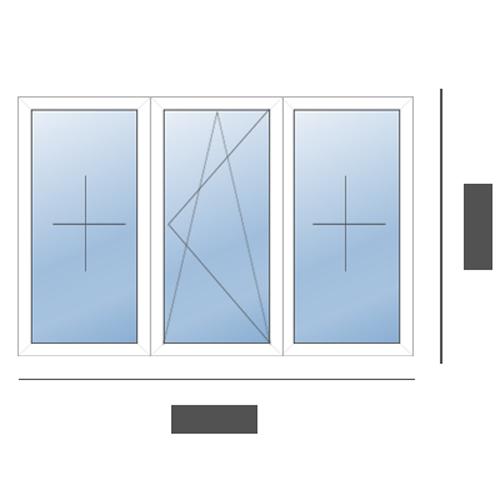 окно трехстворчатое в хрущевку