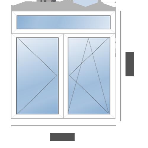 окно пластиковое в сталинку