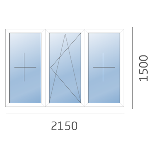 окно двустворчатое в сталинку