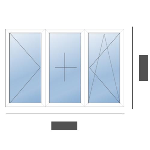 окно трехстворчатое в сталинку