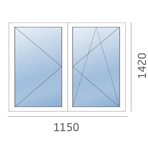 окно двухстворчатое в 137 серию
