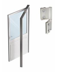 алюминиевая дверь в офисной перегородке