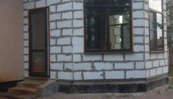 Остекление дома в поселке Вырица