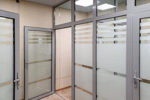 Алюминиевые перегородки для банка ALUTECH C48