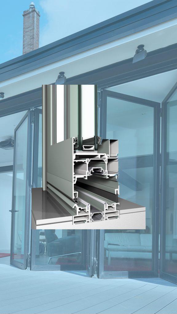 Reynaers CF 77 - система алюминиевых складных дверей